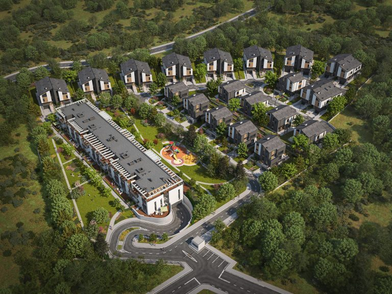 3d-visualisation-of-203-Residence-gated-community